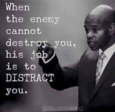 the enemy distracts